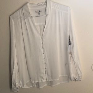 Amuse society's button front blouse